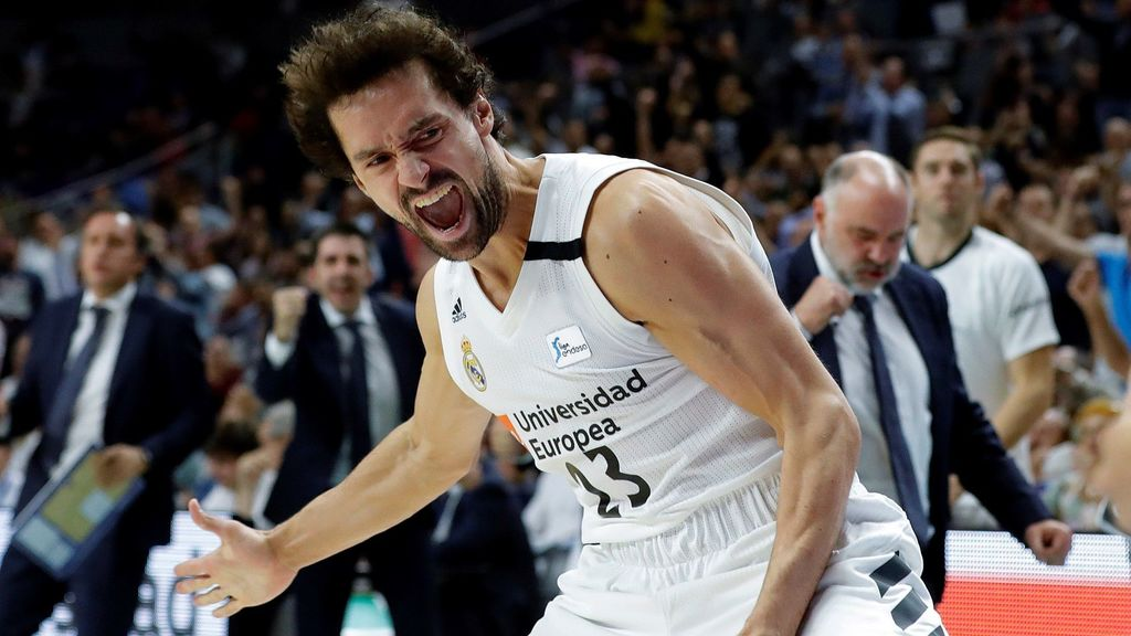 Sergio Llull, en el Real Madrid - Unicaja