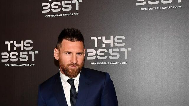 Messi posando en la gala de Premios The Best 2019.